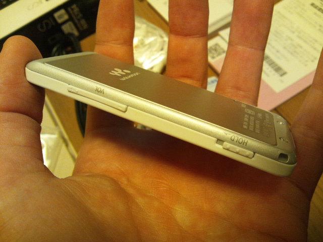 NW-S784の側面